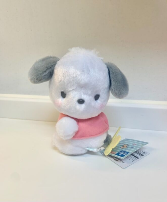 """Sanrio Pochacco Butterfly Mini Plush 6"""" Brand New With Tags From Toreba Japan"""
