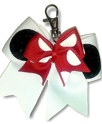 Minnie Mouse Cheer Bow keychain backpack - Minnie Mouse Cheer Bow