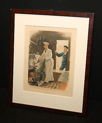 The Ship´s Cook W Christian Symons Galerierrahmung Bild Navy Maritim alt