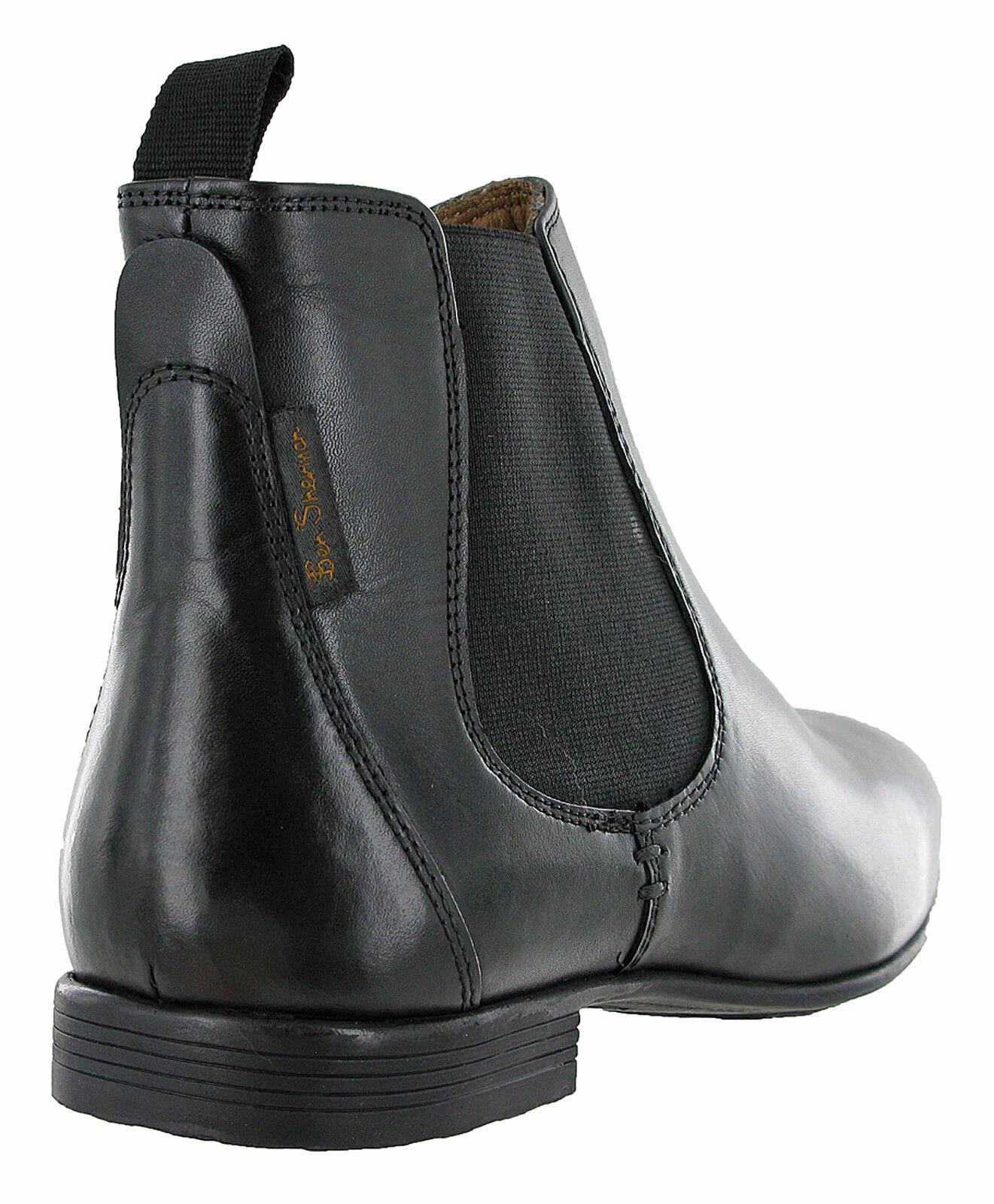 f5b740642d5 Details about Ben Sherman Chelsea Boots Leather Mens Archibald Smooth Ankle  Pull On UK 7-11