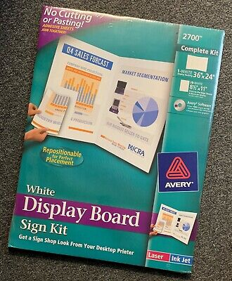 Avery 2700 White Display Board Complete Sign Kit 36 24 W Graphics Software