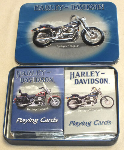 Harley Davidson Springer Softail Collectors Playing Cards Brand New