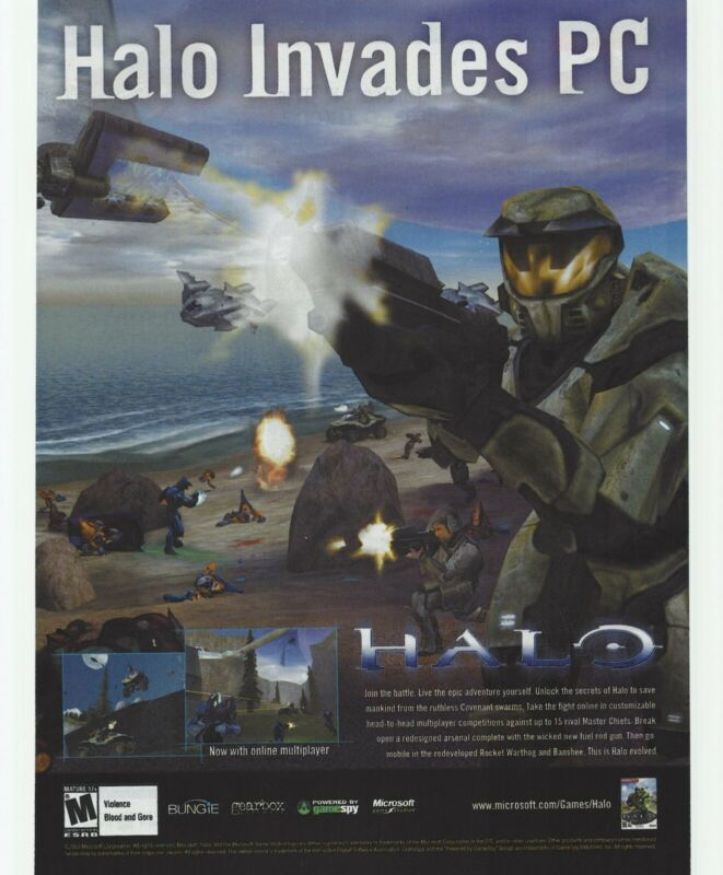 Halo: Combat Evolved Print Ad/Poster Art PC Small Box