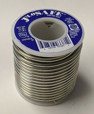 1lb Flosafe Lead Free Solder Canfield 97tin 3copper .125 Diameter 85311 New