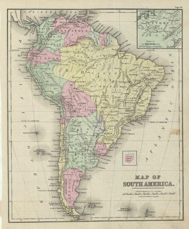 1879 Warren Map of South America