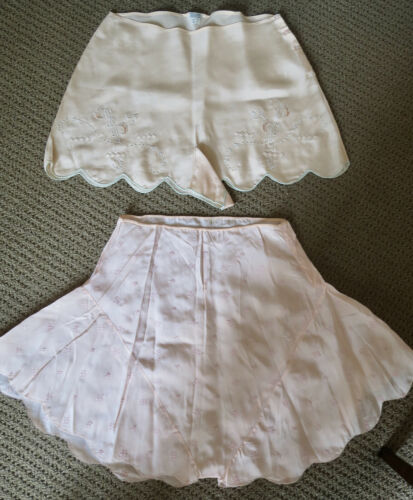 Vintage 1920s-30s Tap Pants Silk Two Pairs