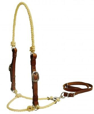 Showman Lariat Rope Tie Down w/ Medium Oil Leather Cheeks! NEW HORSE TACK!