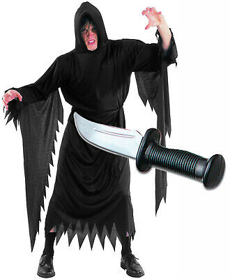 Scream Robe and Dagger Mens Halloween Fancy Dress Horror Costume