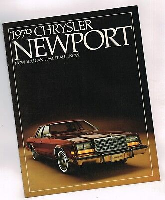 1979 Chrysler NEWPORT Brochure / Catalog with Color Chart: 318