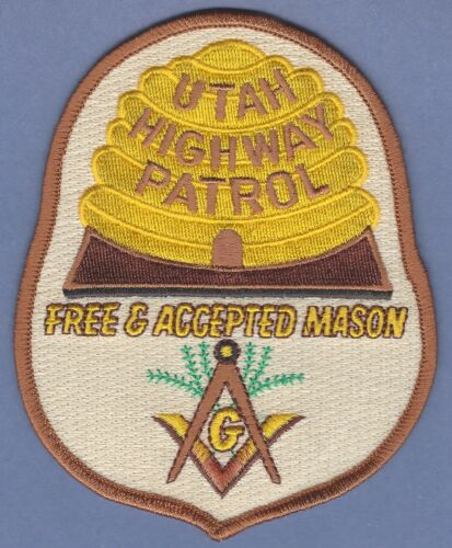 UTAH HIGHWAY PATROL POLICE MASONIC LODGE SHOULDER PATCH