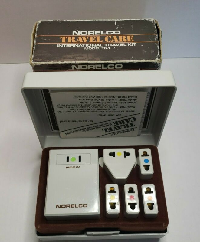 Norelco Travel Care International Travel Kit Vintage