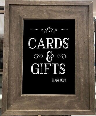 Cards & Gifts Wedding Sign for Mr. & Mrs. 8x10 Rustic/Chalkboard PAPER/PRINT
