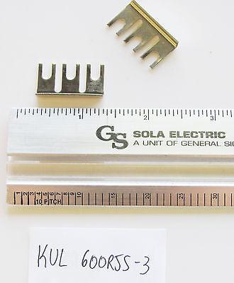 1x Kulka Marathon 600rjs03 3 Pos Flat Jumper 9.5mm Spacing Term Strip Hardware