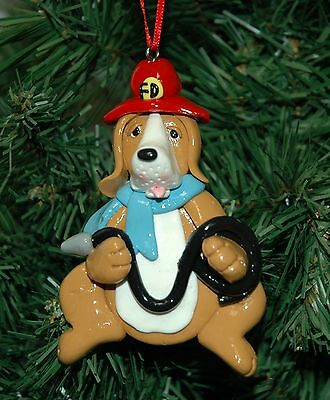 Dog, Canine, Fireman, Firefighter Christmas Ornament