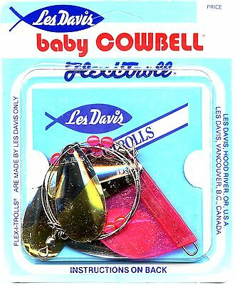 Les Davis Giant/standard/baby Cowbell Fishing Trolls - Select Color & Size