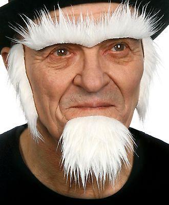 High quality Uncle Sam fake, self adhesive beard, eyebrows and sideburns - Fake Sideburns