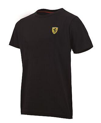 T-SHIRT Mens Ferrari Classic Cotton Crew Neck Tee F1 Formula One 1 NEW! Black XL