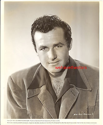 Vintage Rex Reason '52 HANDSOME HAIRY CHEST Publicity Portrait on Rummage