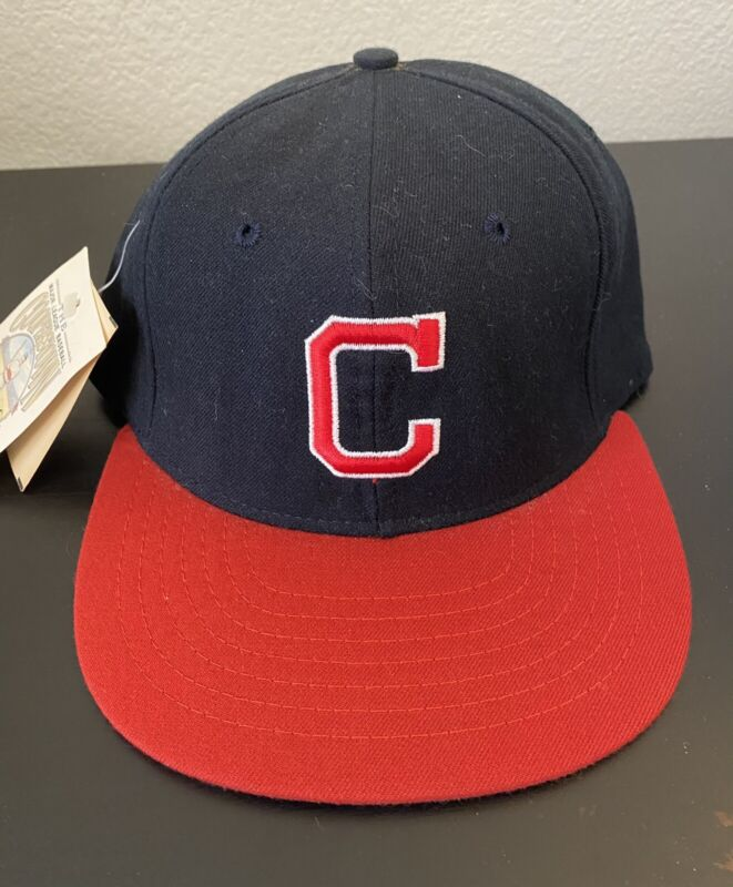 New 1978-1985 CLEVELAND INDIANS 100% Wool THROWBACK Baseball Cap Fitted Size 7