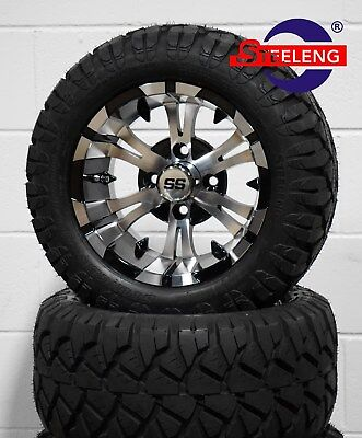 "GOLF CART 12"" VAMPIRE WHEELS/RIMS and 20"" STINGER ALL TERRAIN TIRES (DOT RATED)"