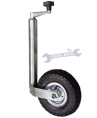 Jockey Wheel 48mm with Heavy Duty 4ply Pneumatic Tyre - Caravan