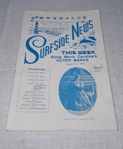 1960 NORTH CAROLINA OUTER BANKS SURFSIDE NEWS MAGAZINE NAGS HEAD KITTY HAWK