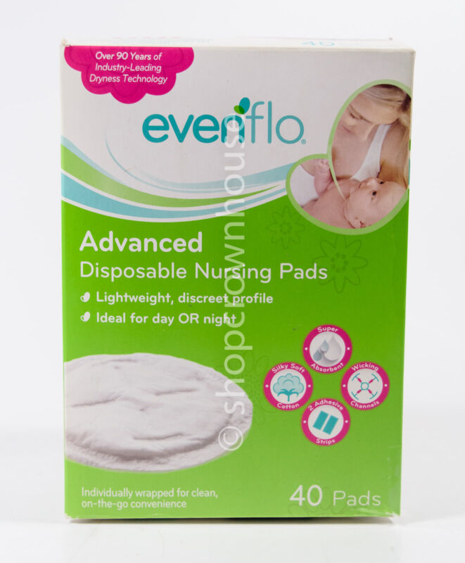 Evenflo Advanced Disposable Lightweight Nursing Pads = 40 total - DAMAGED BOX