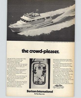 1972 PAPER AD 5 PG Bertram Yachts Motor Boats 63' International Ft Lauderdale