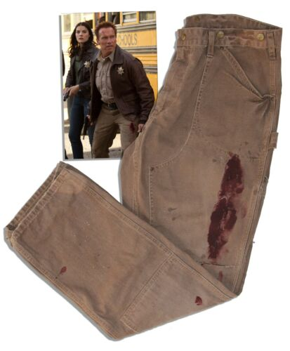 Arnold Schwarzenegger Screen-Worn Hero Jeans w COA