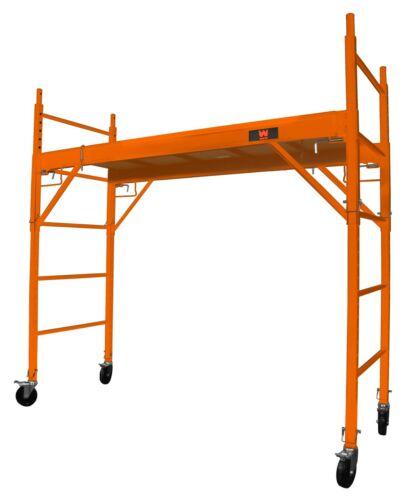 WEN 31110 Baker-Style 6.25 ft. 1000-Pound-Capacity Rolling Steel Scaffolding
