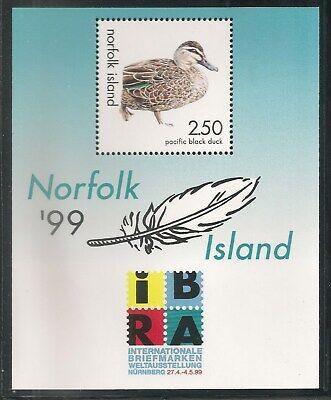 Norfolk Island #678 (A164) S/S VF MNH - 1999 $2.50 Pacific Black Duck  - Pacific Black Duck