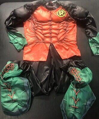 Robin Batman Superhero Costume W/ Cape See Photos DC Comics Originals (s19)