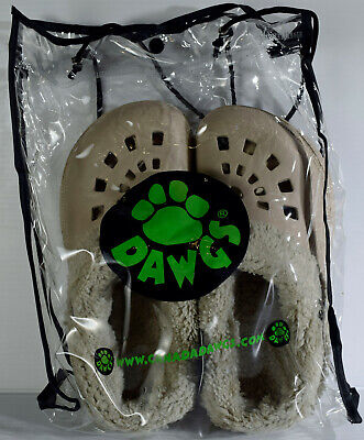DAWGS Fleece Lined Shoes Clogs Sandals Slippers Women's Size 5/6 Tan -