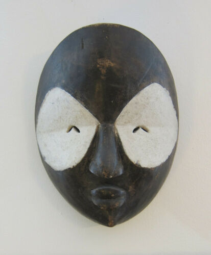 African Mask White Face Congo African Art