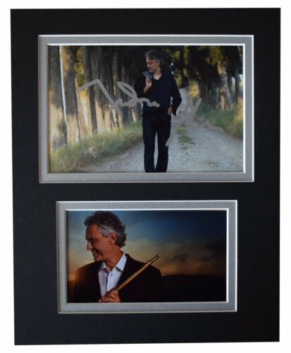Andrea Bocelli Signed Autograph 10x8 photo display Classical Opera Music COA