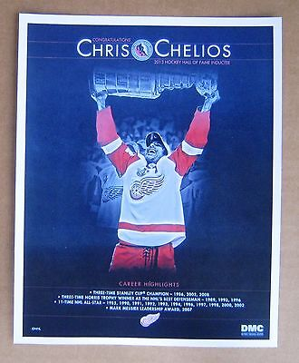 Detroit Red Wings Chris Chelios 2013 Hockey Hall of Fame 8 x 10 poster ()