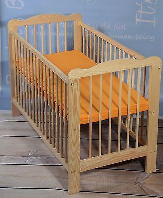 Kinderbett Babybett Gitterbett MATRATZE Massivholz mit extra Brett  Angebot NEU!