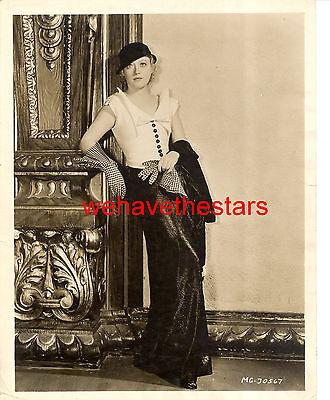 Vintage Marion Davies ADRIAN FASHION MGM 30s Publicity Portrait