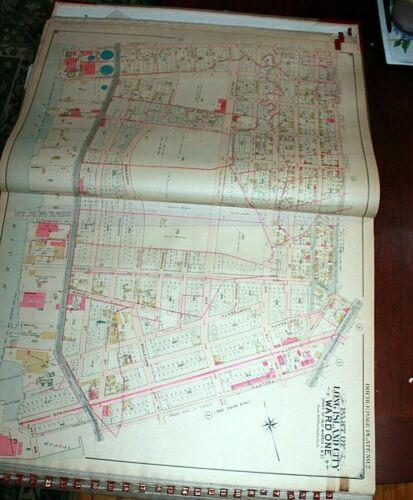 1903 27x37 Belcher Hyde LONG ISLAND CITY ASTORIA QUEENS NYC ATLAS MAP