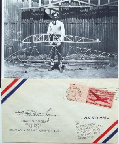 Donald W Douglas Sr Aviation Pioneer Founded Douglas Aircraft Co Signed Cover