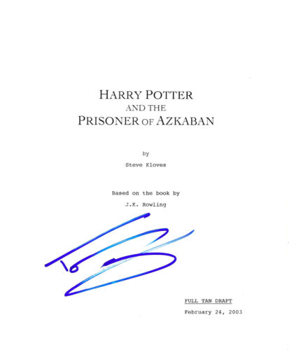TOM FELTON SIGNED HARRY POTTER AND THE PRISONER OF AZKABAN FULL MOVIE SCRIPT COA
