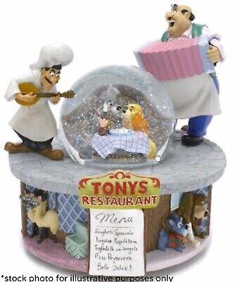 """Lady and The Tramp """"Tony's Restaurant"""" Snowglobe Ltd Ed. BNIB MINT COND. RARE"""