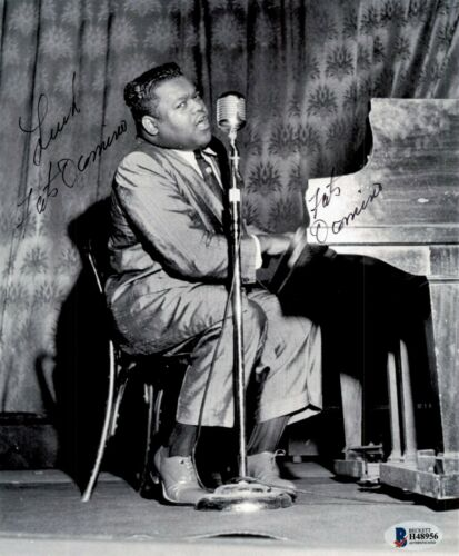 Fats Domino Signed Autographed 8x10 Photo Beckett 2
