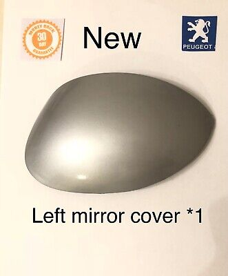 """Peugeot 206 206+ Left Passenger Wing Mirror Cover Cap Near Side Silver """"new"""""""