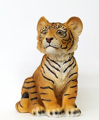 "9.5"" Tall Home Decor Baby Tiger Statue Figurine"