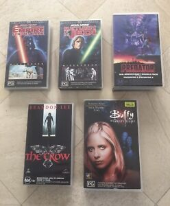 Old VHS cassette tapes