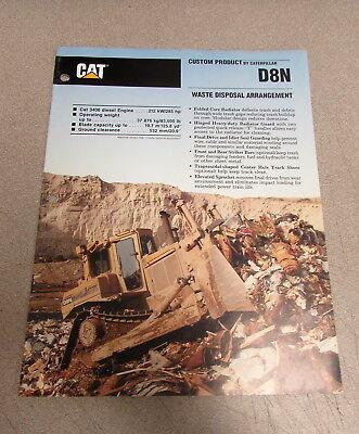 Cat Caterpillar D8n Track-type Tractor Manual Brochure 1987 Aehq1482