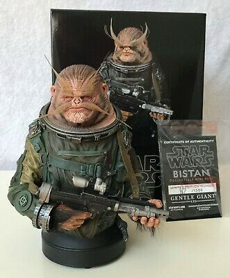 Star Wars Bistan Bust Gentle Giant not Sideshow Statue