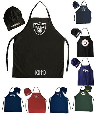 NFL Football Team Barbecue Tailgating Apron And Chef's Hat Team Nfl Football Hat