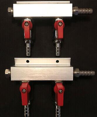 Micromatic Aluminum 2-way Kegerator Beer Gas Air Distributor Model 751-017